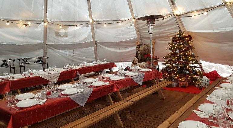 namiot z jadalnią