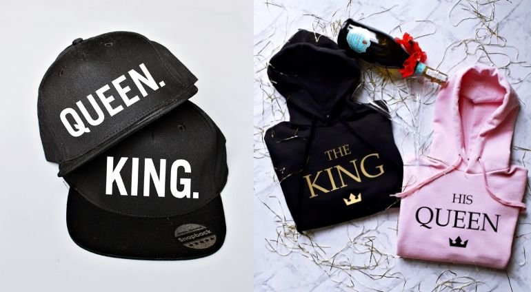 Czapki i Bluzy dla Par Queen and King